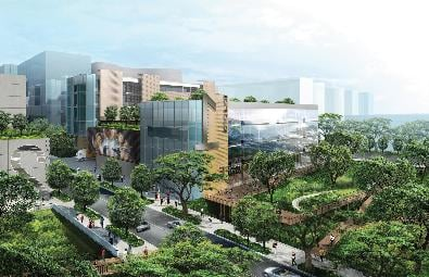 Singapore is building the huge Mediapolis