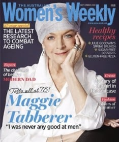 Last month's cover featuring Maggie Tabberer