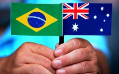 Brazil and Australian flags Olympics