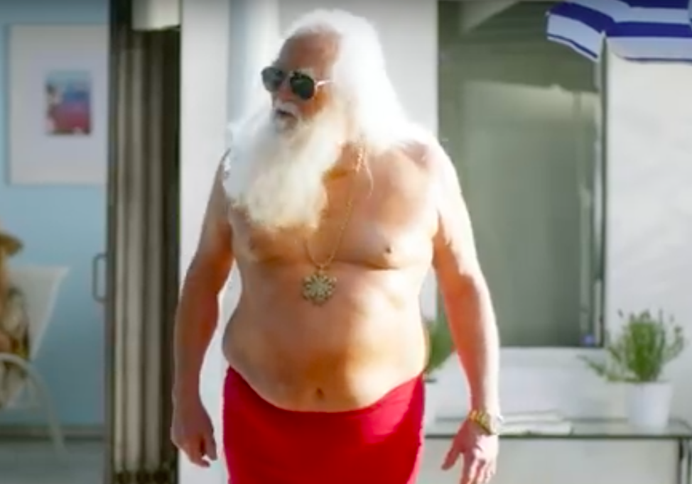 The f@#$ing holiday's over': Virgin Mobile calls in Santa for