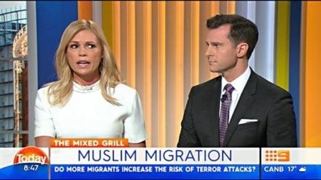 sonia kruger today show muslim comment