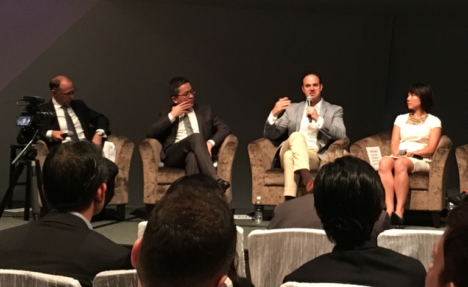 dentsu-aegis-boss-nick-waters-edbs-kelvin-wong-sam-ahmed-of-mastercard-and-starwoods-janice-chan-on-a-panel-at-the-artscience-museum-in-singapore