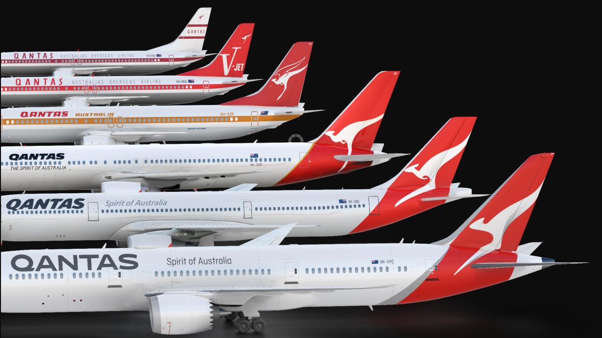 Qantas redesign more than a superficial makeover insists airline logos stopboris Images