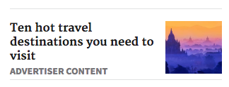 Some websites such as the SMH are already identifying ad content